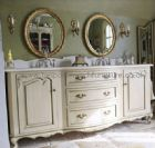 Bespoke Large Double Bowl Vanity Unit and Twin Mirrors